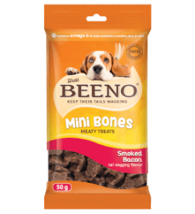 Beeno Mini Bones Smoked Bacon 50g